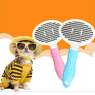 Self Cleaning Slicker Brush Dog Cat Pet Shedding Trimmer Grooming Comb