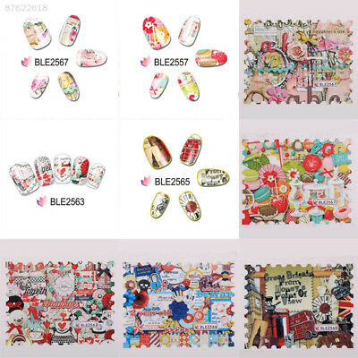40EC 5pcs Nail Sticker Decals Cartoon Printing Decoration Water Transfer Lovely