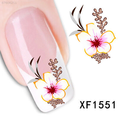 727D New Fashion Pro Water Transfer Flower Stickers Nail Art Manicure Tips DIY