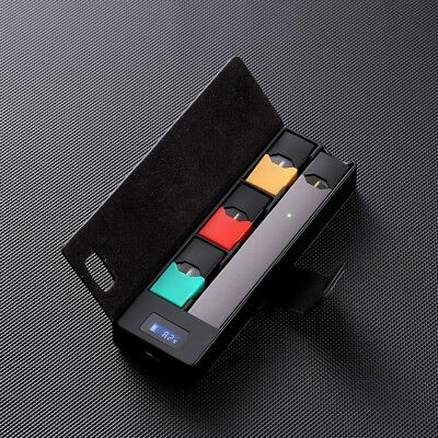 JUUL Compatible Charging Case, Micro-USB Portable LCD Power Bank and Pods Holder