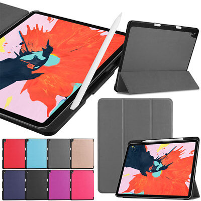 Magnetic Smart Folio Case with Pencil Charging For iPad Pro 11'' 12.9'' 3rd 2018