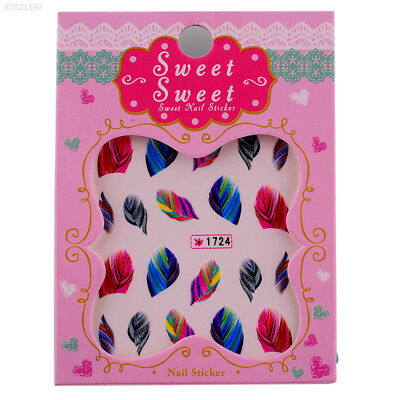 3713 Hot Fashion Elegant Lovely Women Feather Nail Water Transfer Stickers DIY