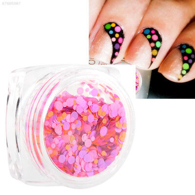 5333 Mixed Mini Round Nail Art Tips Glitter Paillette Decoration DIY No.13