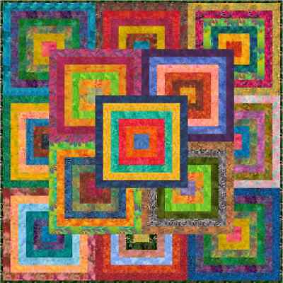 """NEW - KANAWA - 55"""" - Pre-cut Patchwork Quilt Kit by Quilt-Addicts Lap"""