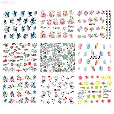 DD2F 50Pcs/Bag Nail Art DIY Stickers Paster Decal Salon Multi Pattern For Women