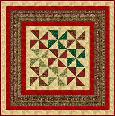 """FIRST NOEL - 52"""" - Christmas Pre-cut Patchwork Quilt Kit by Quilt-Addicts Lap"""