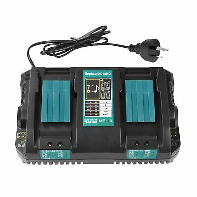 For MAKITA DC18RD 7.2V 18V NiMh Li-ion Battery Charger Double Fast Charging Port
