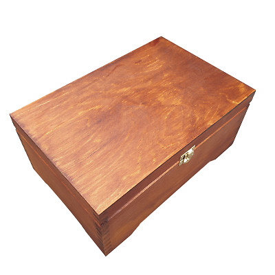 Wooden Jewellery Chest/ Box Lockable Latch In Brown Color