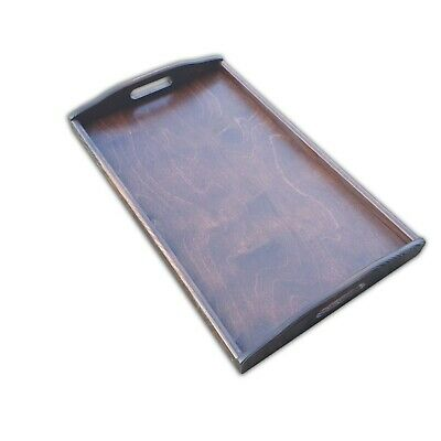 Set 1 to 10 Wooden Serving Large Tray 50 cm x 30 cm x 5.5 cm in Dark Brown Color