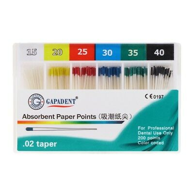 200Pcs Dental Absorbent Paper Points Sterile 15-40# Mixed Sizes For Dentistry