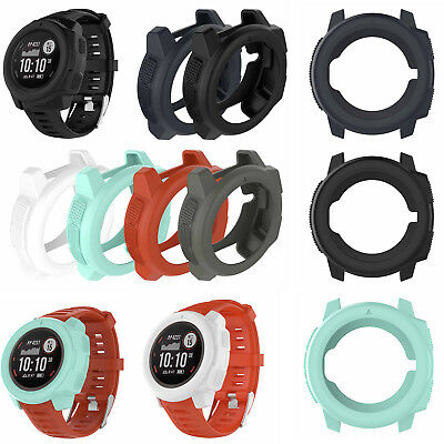 Silicone Soft Case Screen Protector Cover Shell For Garmin Instinct Smart Watch