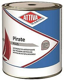Antivegetativa Autolevigante Attiva Pirate Plus 2,50 Lt Bianco Blu Nero