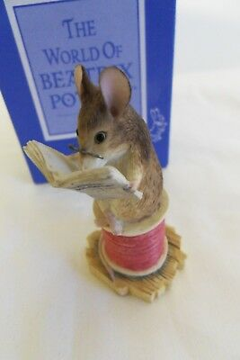 Beatrix Potter Tailor Of Gloucester Figure Border Fine Arts BFA - 271829 1996