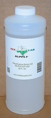 Tex Lab Supply Polyéthylène Glycol 300 (Crochet 300) Nf-Fcc/Ep-Usp 33.8 Fl. Oz