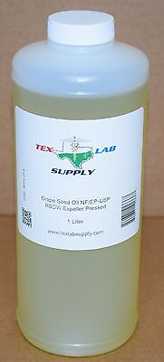 Tex Lab Supply Raisin Graines Huile Nf / Ep-Usp / Rbdw Evacué Pressé 1 Litre -