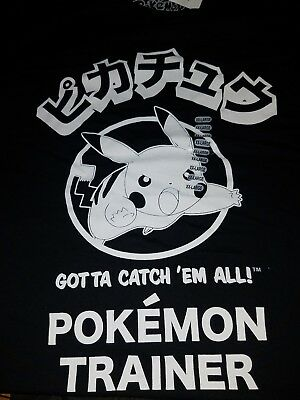 e9fe83eb Catch 'em all Pokemon trainer Pikachu XXL size graphic t-shirt new with tag