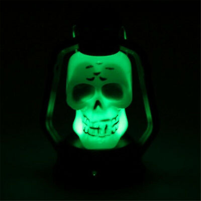 Portable Color Changing Sound LED Glowing Skull Light Hanging Light Party Decor