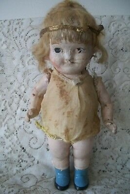 C1920 Antique Zaiden's Mechanical Composition Shimmy Doll Dancing Wind Mechanism