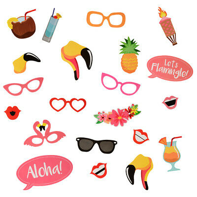 21 Pcs Props Photo Booth Funny Selfie Wedding Birthday Party Events Photography