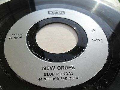 New Order Blue Monday  7 Inch Vinyl  Nuo 7