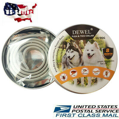 Dewel  Flea and Tick Control Collar for Large Pet  Dog Over 18lb 8 Month NEW