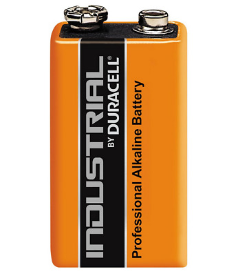 1 x Duracell 9V Procell Battery MN1604 6LR61 PP3 block Smoke Alarms Guitar Pedal