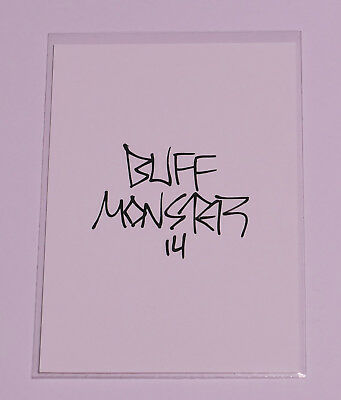 Melty Misfits Series 2 Buff Monster Autograph Card 61b