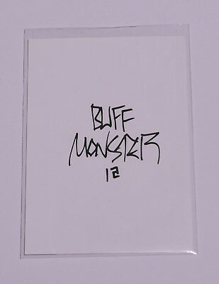 Melty Misfits Series 1 Buff Monster Autograph Card 3a