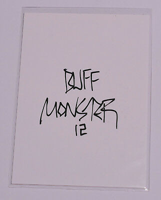 Melty Misfits Series 1 Buff Monster Autograph Card 24a