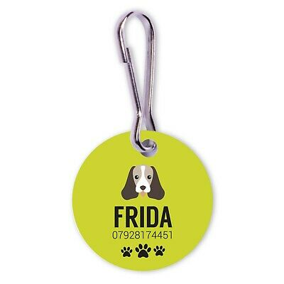 Personalised Engraved Cat Pet ID Collar Dog Tags 25mm Paw Print