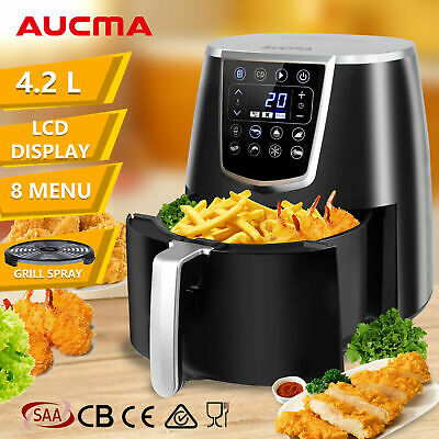 AUCMA 4.2L LCD Oil Free Air Fryer Healthy Kitchen Oven Multi Cooker Airfryer