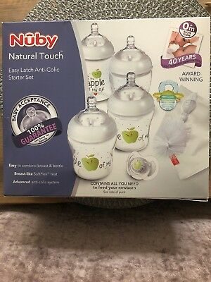 Nuby Newborn Anti-Colic EasyLatch Bottle Set. Great alternative to Tommee Tippee