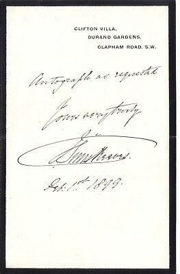 John Sims Reeves ~ foremost tenor of mid~Victorian era ~ original 1899 note