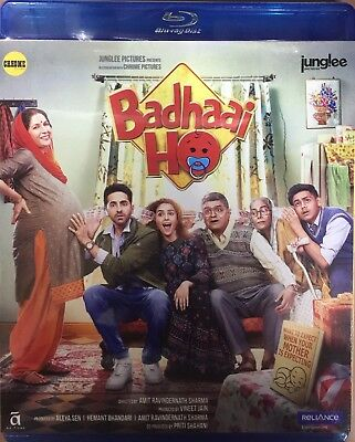 Badhaai Ho Blu-Ray 2018 Bollywood Movie Bluray, Ayushman Khurana