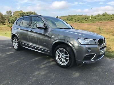 BMW X3 X Drive 20D M Sport Automatic 2013 63 Reg, Nevada Leather heated seats