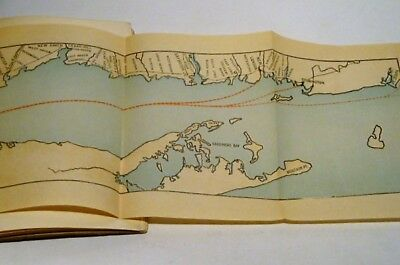 Vintage Tourist Guide Hudson River-MA-Rhode Island to New York-3 Ferry Maps-RARE