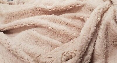 "1.5M CREAM sherpa fleece fluffy borg faux fur fabric 1.5 METER LENGTH 60/"" WIDE"