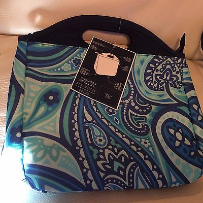 Pottery Barn Teen Gear Up Lunch Tote Bag Blue Paisley Print NWT