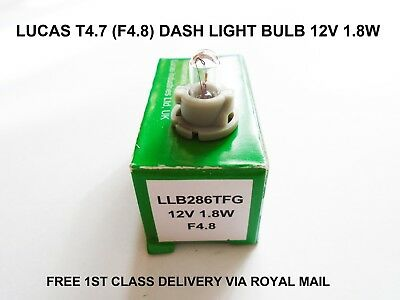 Lucas T4.7 NEO F4.8 Car Dash Panel Gauge Speedo Clocks Light Bulbs Lamp 12V 1.8W