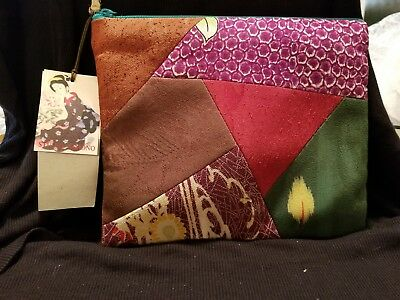 Women's Make Up Bag / Purse by V&A Studio Kimono Made From Vintage Kimono  R