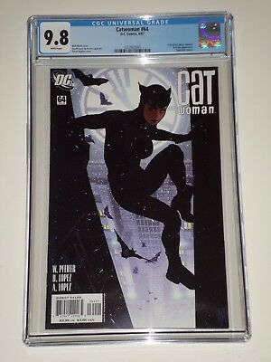 Catwoman #64 (Apr 2007) CGC Graded 9.8 Adam Hughes Cover, Superman Cameo