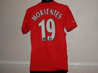 Liverpool 2005 Football Home Shirt Jersey Fernando Morientes 19 , Mens Xs