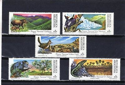 ARGENTINA 1989 Birds/Animals  issue of 5 MINT never hinged