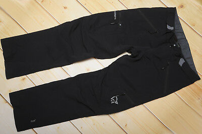NORRONA SVALBARD FLEX1 CAVIAR - SOFTSHELL windproof WOMEN'S OUTDOOR PANTS - L