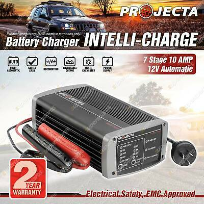 Projecta 12 Volt Automatic 10A 7 Stage Battery Charger Suit AGM Calcium
