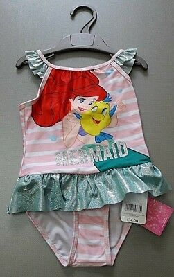 Ex Mothercare 18-24 Months Disney Ariel Mermaid swimming costume New with Tag