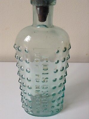 HOBNAIL POISONOUS NOT TO BE TAKEN Old Aqua Poison Chemist Bottle