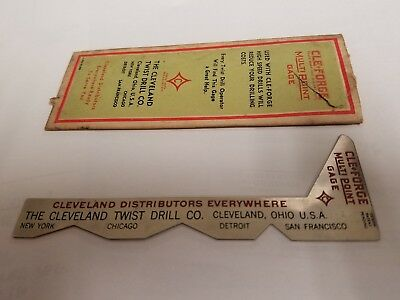 Vintage CLEVELAND CLE- FORGE Multi-POINT Drill GAGE NEW NOS