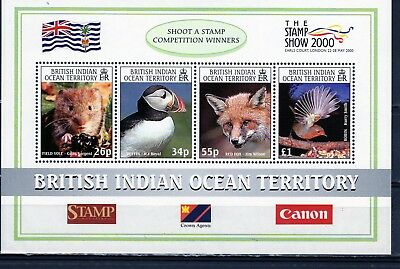 Br Indian Ocean Terr. 2000 Birds/Animals  Mini Sheet  MINT never hinged