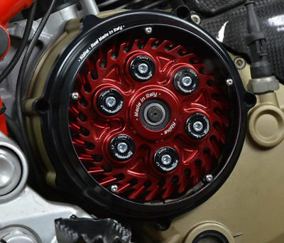 """DUCATI Monster S2R / S4R / S4RS / 1100S clutch cover """"Pollux"""" black NEW"""